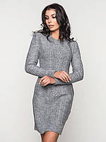 S-L / Теплое платье в обтяжку Sempati, серый