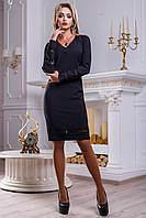 Изысканное и утонченное черное женское платье 2253