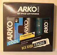 Набор мужской Arko Cool (гель для бритья + гель для душа + бальзам после бритья).