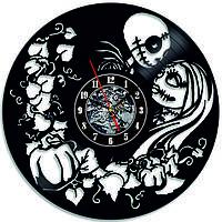 Настенные часы из виниловых пластинок LikeMark The nightmare before christmas 4