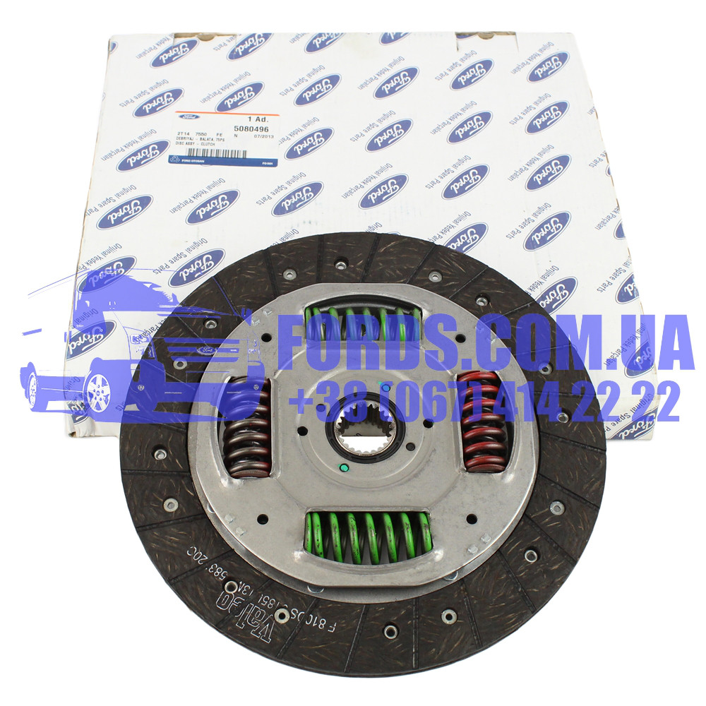 Диск сцепления FORD CONNECT 2002-2013 (1.8TDCI 75PS) (5080496/2T147550FE/5080496) ORIGINAL
