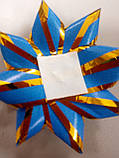 Бантик сиреневый с золотой окантовкой, фото 2
