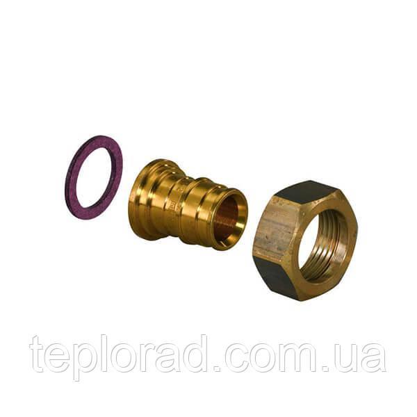 Штуцер Uponor Q&E латунный с накидной гайкой PL 20-G1/2 НГ