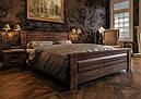 Ліжко двоспальне з натурального дерева в спальню Еліт-нью (Сосна) ДОК, фото 3