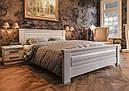 Ліжко двоспальне з натурального дерева в спальню Еліт-нью (Сосна) ДОК, фото 4