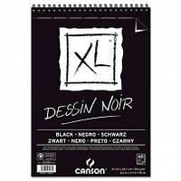 Альбом для графики и рисунка Canson XL Dessin Black (Черные листы) 40л, 150 г, А4 на спирали