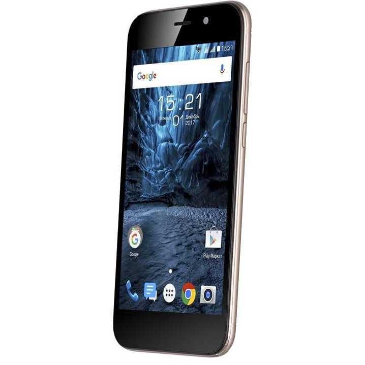 Смартфон на 2 сим карты экран 5 дюймов 1/8Gb Fly FS527 Nimbus 17 золотой