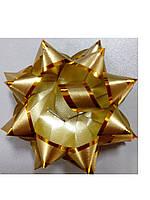 Бантик золото с золотой окантовкой