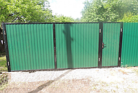 Металлические ворота вариант №25