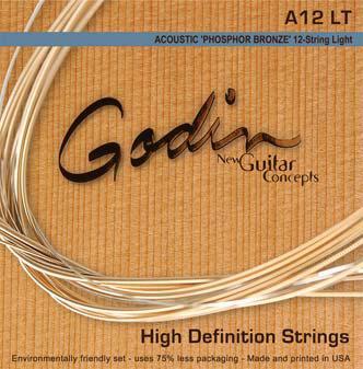 Струны GODIN 009343 12 стр. Acoustic Guitar LT Phos Bronze 12 Strings