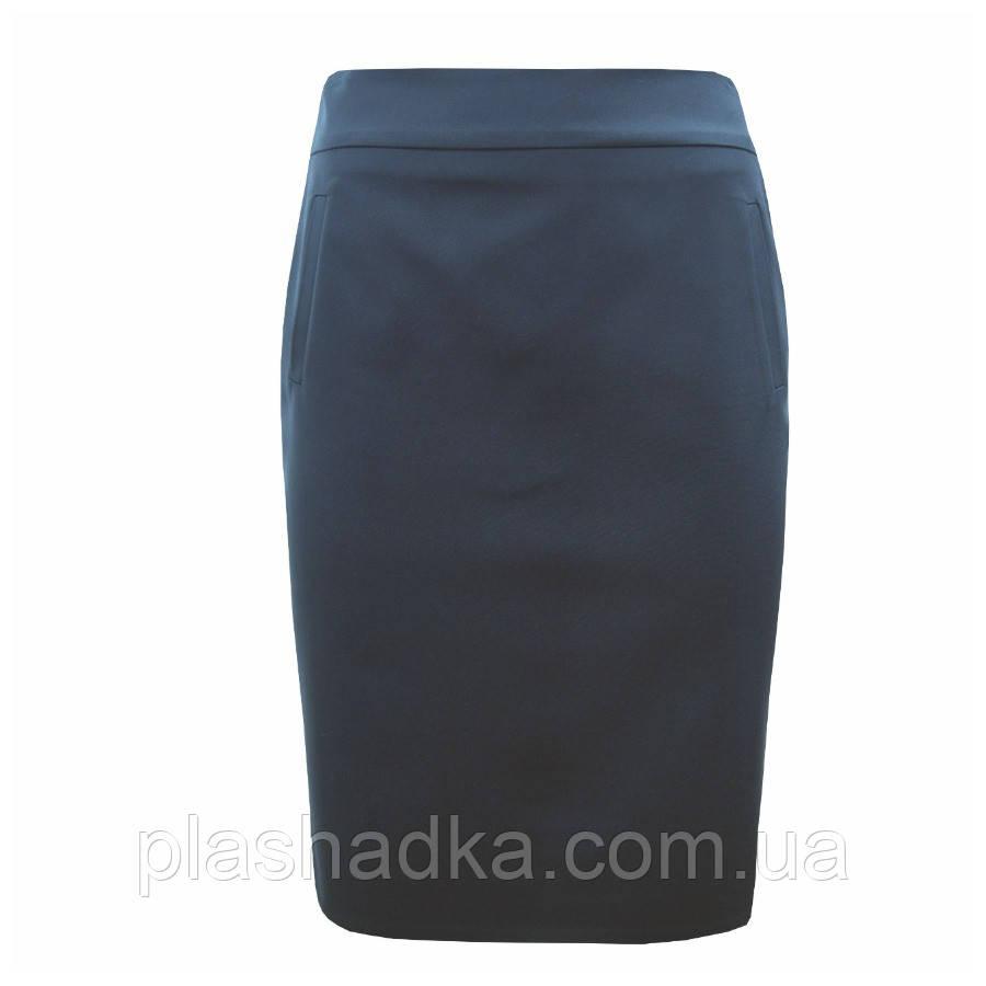 Женская юбка карандаш, черная