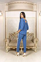 """Деловой женский брючный костюм """"GRINA"""" с лампасами (2 цвета), фото 3"""