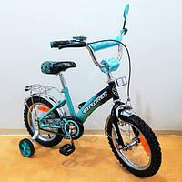 """Детский двухколесный велосипед EXPLORER 14"""" (T-21416 turquoise + black)"""