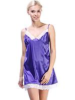 Сиреневая женская ночная рубашка