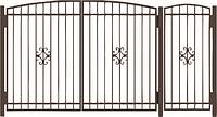 Металлические ворота вариант №12