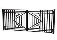 Металлические ворота вариант №13