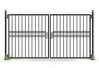 Металлические ворота вариант №14