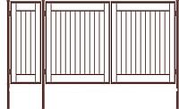 Металлические ворота вариант №15
