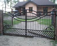 Металлические ворота вариант №17