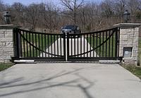 Металлические ворота вариант №18