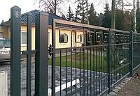 Металлические ворота вариант №19