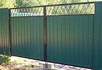 Металлические ворота вариант №20
