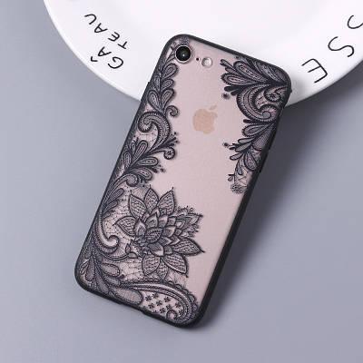 ЧехолнакладканаiPhone7 Plus/8plusажурный черный