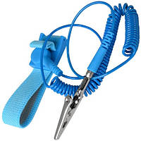 Антистатический браслет ESD, синий (ZD-152)