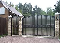 Металлические ворота вариант №22