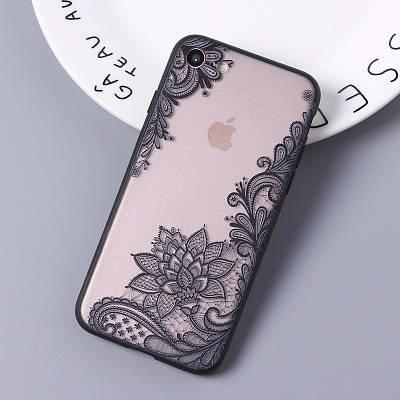 Чехол накладка на iPhone 5/5s/se ажурный №2 черный