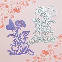 Нож для вырубки и тиснения Tonic studios - Butterfly Die 5 - Carmenta , 555Е