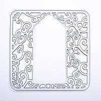 Ножи для вырубки Tonic studios - Elegant Vine Tag Square Die , 384e, фото 1