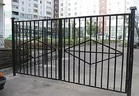 Металлические ворота вариант №23