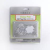 Нож для высечки и карточки Tonic Studios - Daisy Pair Gift Tag Die, 196e