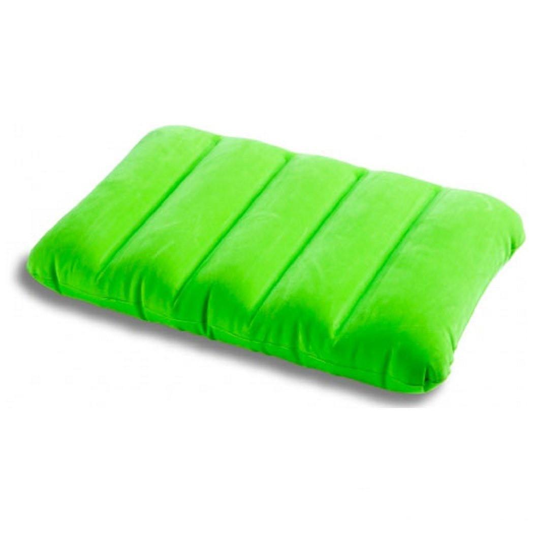 Подушка надувная Intex дорожная, туристическая, для сна и отдыха, велюровая