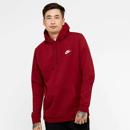 Толстовка Nike Club Fleece Pullover Hoodie 804346-677 (Оригинал) , фото 2