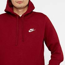 Толстовка Nike Club Fleece Pullover Hoodie 804346-677 (Оригинал) , фото 3