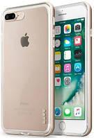 Алюминиевый бампер + чехол-накладка Laut  EXO-FRAME для iPhone 7 Plus Gold