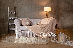 """Теплый плед с подушкой (для детей), комплект """"Котик"""". Размер L"""