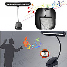 USB лампа на гнучкій ніжці з прищіпкою 9 LED три типи живлення