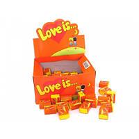 Жвачки love is Ананас - апельсин , блок 100шт