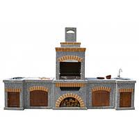 """Барбекю комплекс """"Манчестер"""" - с двумя столами, мойкой и плитой и фасадом, фото 1"""