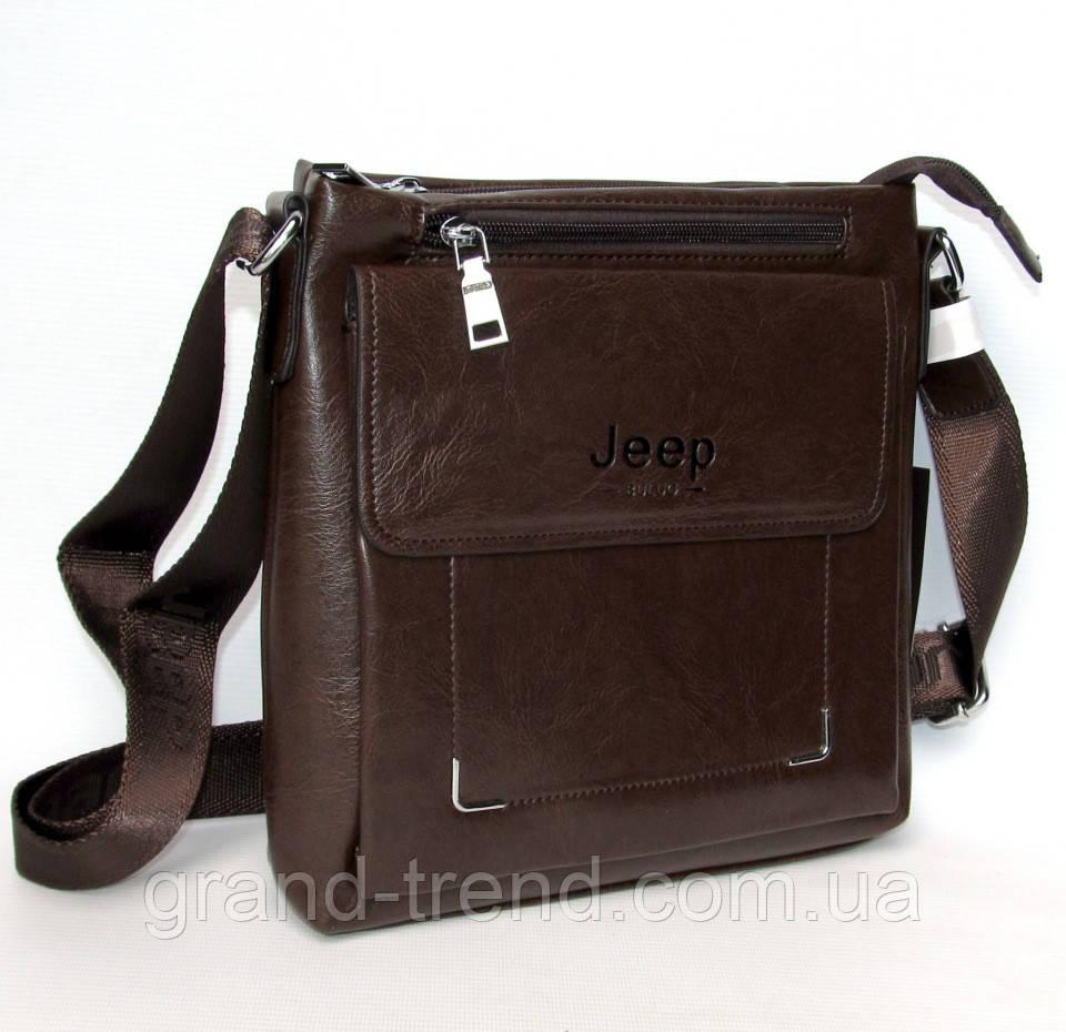 a3d84bd8d96c Стильная мужская сумка из кожзама Jeep - интернет магазин GRAND-TREND в  Хмельницком
