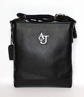 Стильная мужская кожаная сумочка через плечо AJ