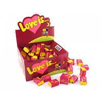 Жвачки love is Вишня - лимон , блок 100шт Турция