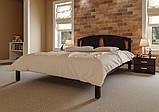 Ліжко півтораспальне з натурального дерева в спальню, дитячу Британія (Вільха) ДОК, фото 2