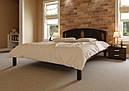Ліжко півтораспальне з натурального дерева в спальню, дитячу Британія (Вільха) ДОК, фото 3