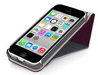 Чехол-флип Macally Rotatable Stand для iPhone 5C Burgundy