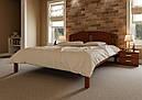Ліжко півтораспальне з натурального дерева в спальню, дитячу Британія (Вільха) ДОК, фото 4