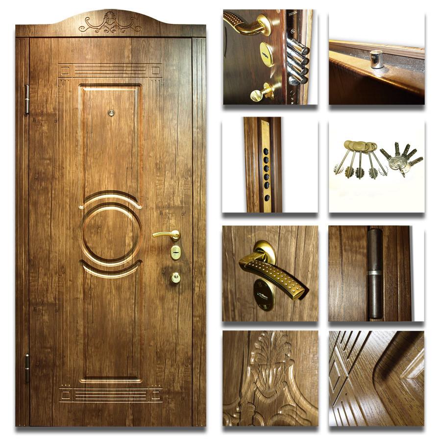 """Входные двери ( сталь 1.2 мм.) МДФ + МДФ 8 мм. Замок MOTTURA 54.797 С СИСТЕМОЙ КРАБ+ВРЕЗНАЯ БРОНЕНАКЛАДКА - Двери """"VALT""""   в Днепре"""